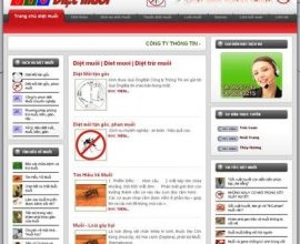 Thiết kế web Diệt muỗi, dịch vụ diệt muỗi, thuốc diệt muỗi