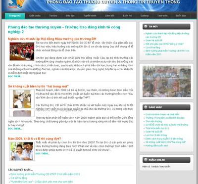 website Phòng ĐTTX CN2