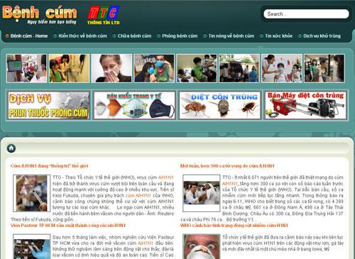 Thiết kế web Bệnh Cúm