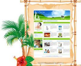 Dự thiết kế web sữa tươi