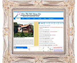 Dự án thiết kế web siêu thị bất động sản
