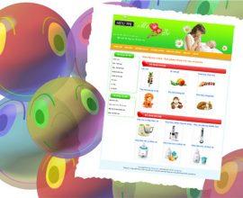 Thiết kế web đồ dùng mẹ và bé