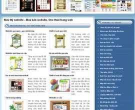 Thiết kế web hệ thống siêu thị website