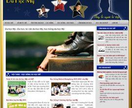 Dự án thiết kế web du học Mỹ