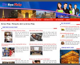 Thiết kế website du học Pháp