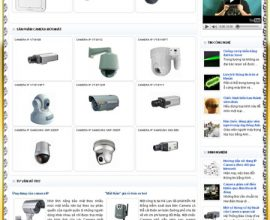 Dự án website siêu thị camera