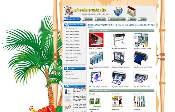Thiết kế web bán hàng trực tiếp