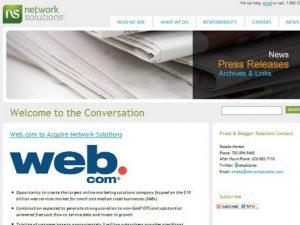 Web.com mua đứt NetworkSolutions