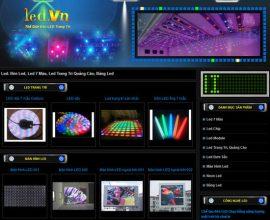 Xây dựng website led - Đèn led