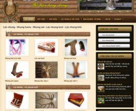 Dự án website Lộc Nhung