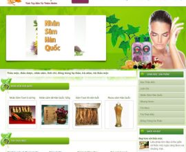Thiết kế website Thảo Mộc