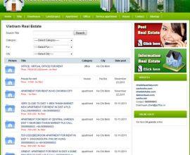Design website House for rent