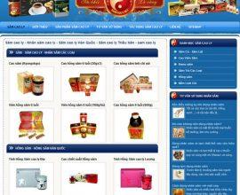 Dự án web Sâm Cao Ly