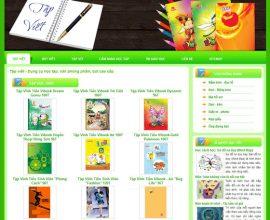 Thiết kế website Tập Viết