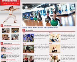 Dự án thiết kế web Training - Fitness