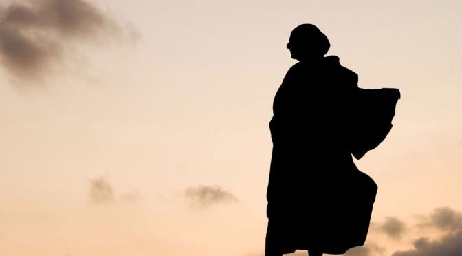 Bức tượng Columbus tại Lavagna, Genova, Italy.