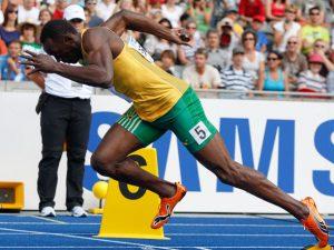 Usain Bolt giành chiến thắng trong 100m cuối cùng tại Thế vận hội Olympic 2008.