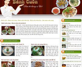 Thiết kế website Bánh Cuốn