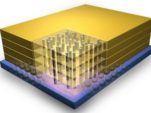 Công nghệ 3D mới của IBM được sử dụng để kết nối các vi mạch 3D, sẽ là nền tảng sản xuất thương mại các khối bộ nhớ mới.
