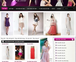 Thiết kế website Váy Xinh