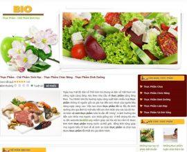 Dự án web thực phẩm chức năng