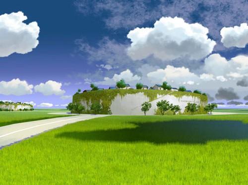 Phác thảo đảo trên đất liền của Sako Architects