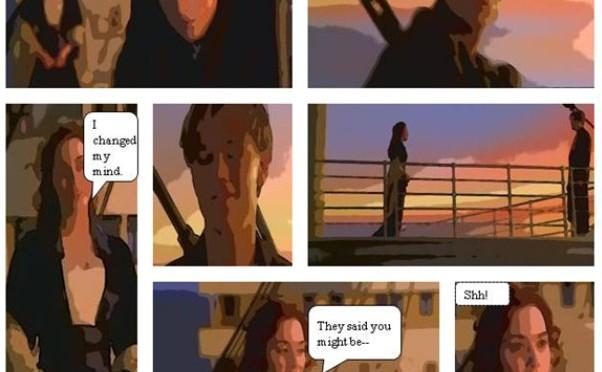 """Một số cảnh trong phim """"Titanic"""" được chuyển sang truyện tranh."""