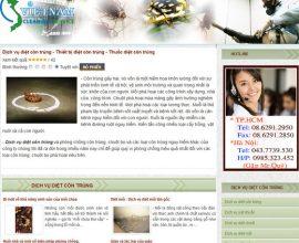 Xây dựng web dịch vụ diệt côn trùng