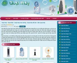 Xây dựng website Quạt Máy