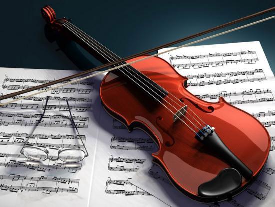 Một cây đàn vĩ cầm.