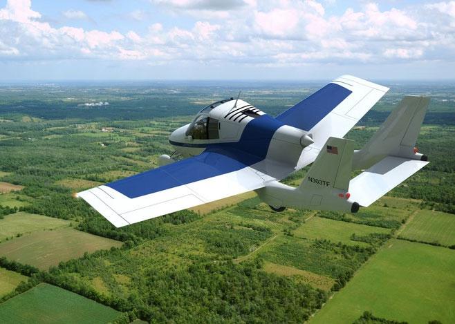 Xe hơi lai máy bay đang bay thử nghiệm.