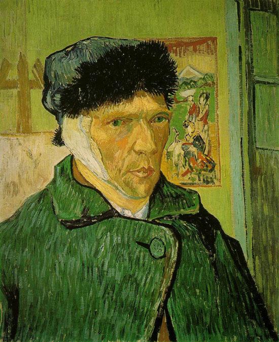 Bức chân dung tự họa với chiếc tai bị cắt được Vincent van Gogh vẽ năm 1889.