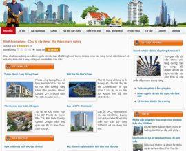Thiết kế web nhà thầu xây dựng