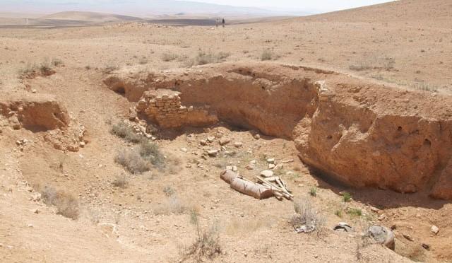 Tàn tích của những hồ chứa nước tại thành phố Palmyra cổ đại cách đây 2000 năm.