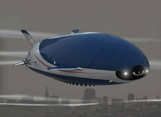 Aeroscraft lai giữa máy bay với khinh khí cầu và sang trọng như một khách sạn bay.
