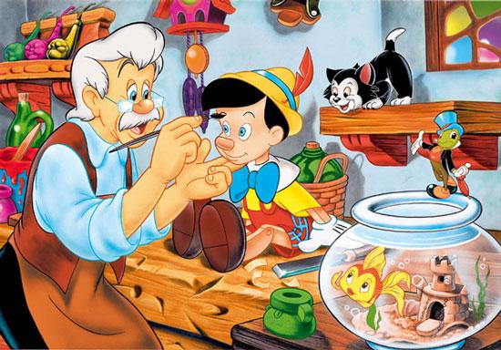 Cậu bé người gỗ Pinocchio.