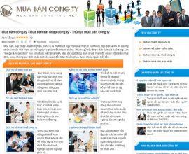 Dự án web mua bán công ty