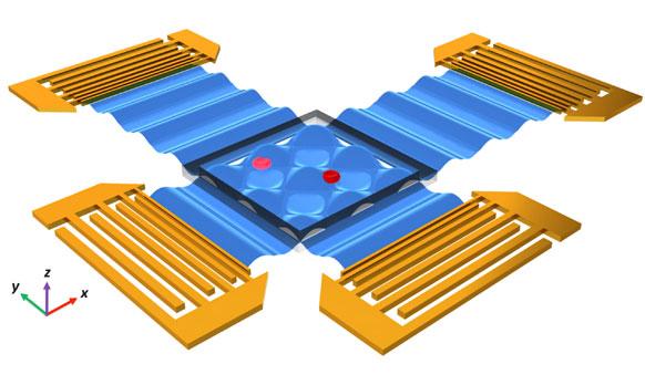 Sơ đồ mạch điện tử của nhíp siêu âm