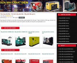 Dự án web sửa máy phát điện