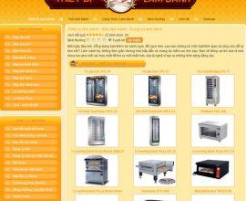 Dự án web thiết bị làm bánh
