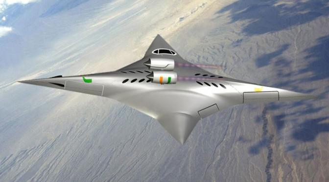 Hình ảnh mô phỏng máy bay siêu âm mới