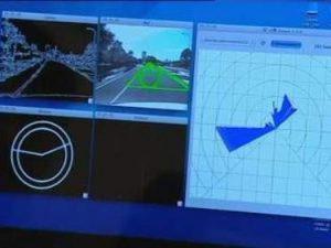 Màn hình ứng dụng iPhone có khả năng điền khiển xe hơi chạy tự động