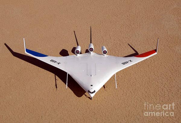 Mẫu máy bay X-48B của Boeing.