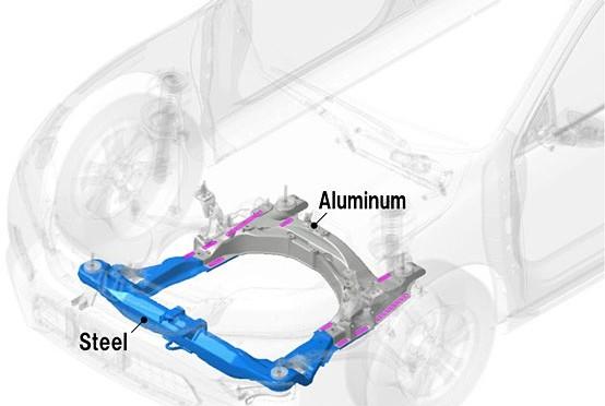 Khung phụ sử dụng công nghệ hàn thép-nhôm sẽ giúp giảm 25% trọng lượng của xe.