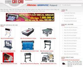 Thiết kế web máy cắt chữ