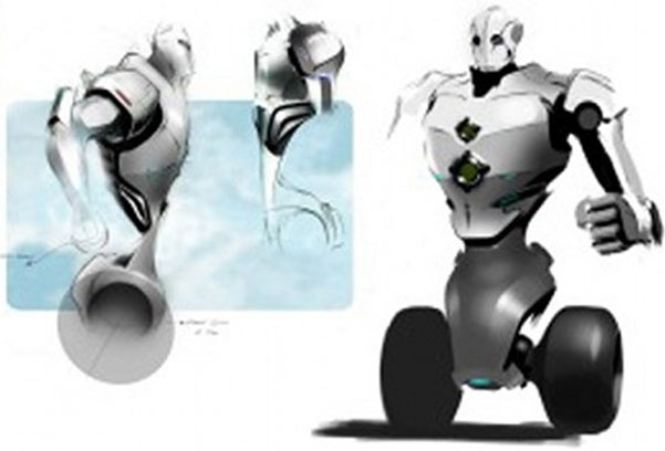 Bản vẽ nguyên mẫu cảnh sát robot đang được nghiên cứu
