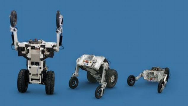 Cảnh sát robot có thể thay đổi từ 2 đến 4 chân tuỳ thuộc vào địa hình