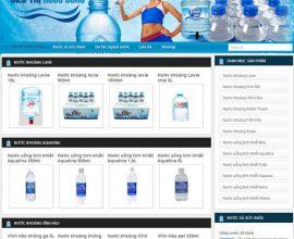 Thiết kế web siêu thị nước uống