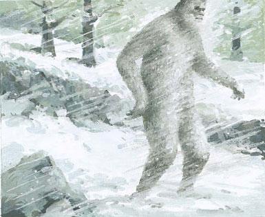 Một tranh minh họa người tuyết ở vùng Siberia.