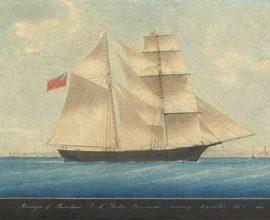 Bức họa tàu Mary Celeste năm 1861.